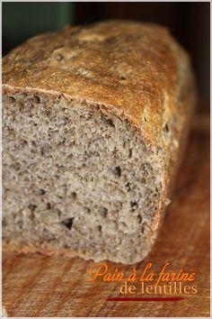 Pain à la farine de lentille verte du Puy Gluten, Bakery, Bread, Pains, Beignets, Food, Vegan, Easy Cooking, Pastries