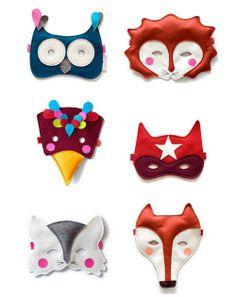 Owl Mask #owl #mask #felt #lion #bird #superhero #cat #fox #animal #mask