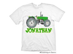 Hey, I found this really awesome Etsy listing at https://www.etsy.com/listing/163219348/personalized-boys-farm-green-tractor