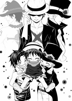 Ace, Monkey D. Luffy or Sabo? – – Monkey D Luffy One Piece Ace, One Piece Manga, One Piece Seasons, One Piece Comic, One Piece Fanart, One Piece Luffy, One Piece Images, One Piece Pictures, Film Manga