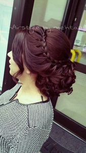 Best Prom Braided Hairstyles Prom Hairstyle for Long Hair Updos Braided (Prom Hair Hairstyle for Long Hair Updos Braided (Prom Hair Prom Hairstyles For Long Hair, Fancy Hairstyles, Bride Hairstyles, School Hairstyles, Short Hair, Japanese Hairstyles, Asian Hairstyles, Modern Hairstyles, Protective Hairstyles