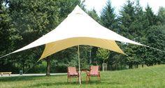 Regenschutz mit Sonnensegeln beim Campen oder Picknick