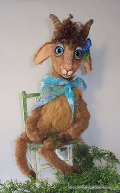 Коза - голубые глаза, авторская игрушка / Изготовление игрушек своими руками / Бэйбики. Куклы фото. Одежда для кукол
