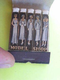 1930's Art Deco Vintage Unused The Model Shop Matchbook with Striker Girls WOW