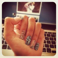 Animal Print, leopard print nails. Love!