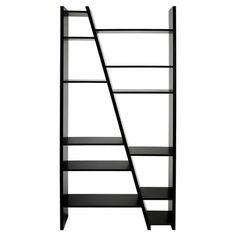 De-clutter your living room, study or bedroom with this streamlined shelf, showcasing diagonal lines. Use to store books and magazines and display trinkets a...