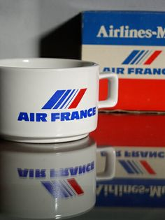 Airline Logo, Air France, Air Travel, Catering, New Experience, Jet, Mugs, Airplanes, Mug