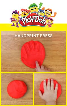 Classroom creativity is as easy as 1-2-3! These quick and simple Play-Doh impressions capture your little ones every move. Gently press their hands into squishy Play-Doh  compound to make one-of-a-kind creations they'll be excited to share with mom, dad— and the whole class!