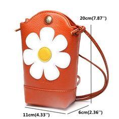 Woman Irregular Bucket Bag Little Phone Bag Casual PU Crossbody Bag