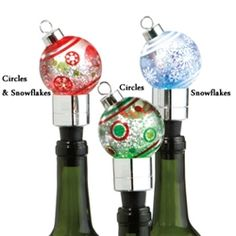 Christmas Wine Stoppers.Festive Wine Stoppers