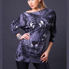 Moda Italia Tiger - epäsymmetrinen neulospaita