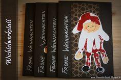 Weihnachtskarten mit Handabdrücken