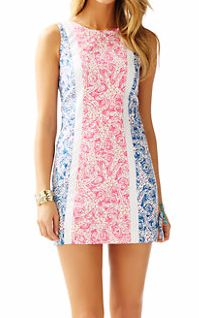 Lilly Pulitzer Delia Shift Dress in Indigo Star Crush