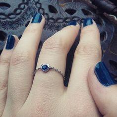 Bague My Jolie Candle #Swarovski #bleu #bague #manucure #hand #cute #perfect