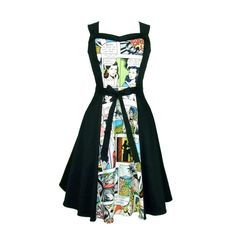 Comic Full Circle Swing Vintage inspiriert Dress von VintageGaleria