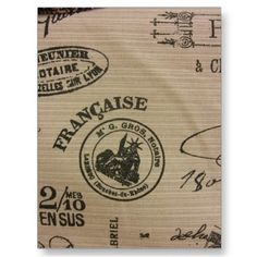 French Travel Stamps postcard