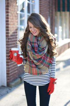 Blanket Scarf Giveaway! | Southern Curls & Pearls | Bloglovin'