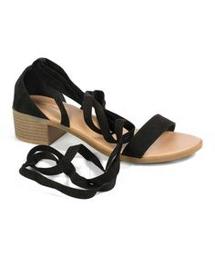 fcd964d49ae3 This Black Beryl Lace-Up Sandal is perfect!  zulilyfinds Pierre Dumas