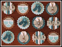 New Birthday Cake Fondant Men Dads Cupcake Toppers Ideas Fathers Day Cupcakes, Cupcakes For Men, Fathers Day Cake, Holiday Cupcakes, Fondant Man, Fondant Cupcake Toppers, Cupcake Cakes, Cake Fondant, Fondant Figures