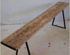 Vintage - Banco madera y hierro : Va de retro, MOBILIARIO VINTAGE Y RETRO.Muebles industriales de fábrica y de oficio, design escandinavo, muebles de los años 50 …/ Va de Retro