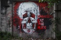 madam-b: I'm more than happy to pay my respects to Hannibal NBC show by this street art. THIS IS MY DESIGN :) THIS IS AMAZING! *from Russia with love =*