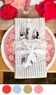 8 Color Inspiring Place Settings: Bright + Beautiful - see more at: www.theperfectpalette.com - color ideas for weddings + parties