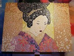 Gorgeous art using this ancient technique. Mosaic Art, Mosaic Tiles, Mosaics, Eggshell Mosaic, Egg Shell Art, Egg Art, Mosaic Designs, Egg Shells, Art Auction