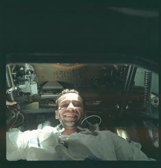 Apollo 7 Hasselblad image from film magazine 4/N - Earth Orbit