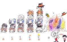 KHR Pileup by anime-storm on DeviantArt they are pairing numbers Manga Art, Manga Anime, Anime Art, Reborn Katekyo Hitman, Hitman Reborn, Reborn Comic, Mafia Families, Wattpad, Kawaii Anime