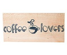 PLACA DECORATIVA COFFEE LOVERS NUIT - 25,5X12CM