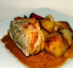 Tomakonyha: magyar Meat Recipes, Chicken Recipes, Hungarian Recipes, Hungarian Food, Finger Foods, Pork, Turkey, Appetizers, Dishes
