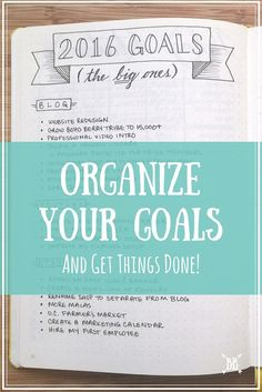 A look at how I organize my goals in my bullet journal + how you can organize YOUR goals too!