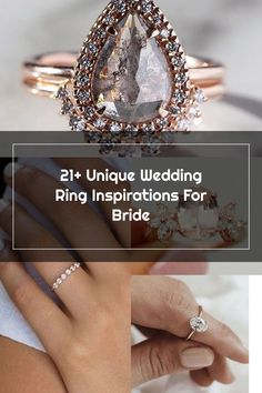 21+ Unique Wedding Ring Inspirations For Bride Wedding Rings Teardrop, Classic Wedding Rings, Unique Weddings, 21st, Bride, Diamond, Bracelets, Inspiration, Jewelry