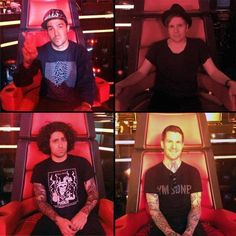 FOB on The Voice Soul Punk, Falling Down, Pete Wentz, Patrick Stump, All Time Low, Paramore, Fall Out Boy, Cool Bands, Save Rock And Roll