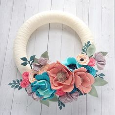 """Ok, so I've been asked to do some wreaths still. And it is so hard to say no to you guys! So when I reopen I will offer to do custom wreaths for the rest of the year. They're normally $79 shipped (us shipping, international would be $92 shipped) for a 12"""" but will be $69 (international: $82 shipped) shipped for the rest of the year. I'll have them relisted in my shop when I reopen on the 15th. But after this year they will be discontinued. . . . . . . . . . #nurseryinspo #kidsroomdecor…"""