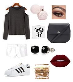 """""""Untitled #29"""" by emmaraej on Polyvore featuring MANGO, adidas, Kate Spade, Belk & Co. and Lime Crime"""