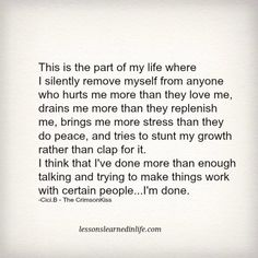 Lessons Learned in LifeI'm done. - Lessons Learned in Life