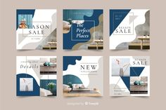 Instagram sale post collection Free Vector |  #Freepik #freevector #banner #business #sale #template Instagram Design, Instagram Grid, Homepage Design, Web Design, Layout Design, Logo Design, Banner Store, Graphic Design Brochure, Instagram Banner