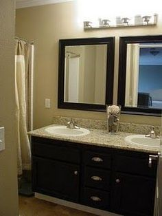 Affordable Bathroom facelift....I need to do this!