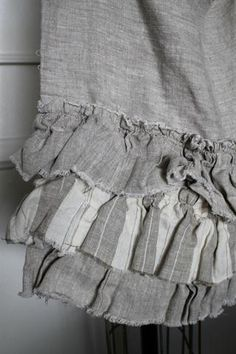 ruffles in linen - There is something Organic & Independent about Ruffled Linen... They refuse to be Ironed... Period.