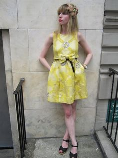 Yellow marc jacobs dress spring