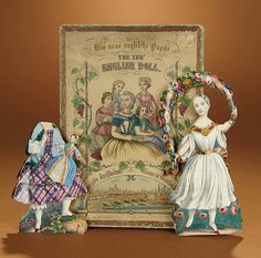 """Bread and Roses - Auction - July 26, 2016: Lot #29.1 Early Boxed Paper Doll """"The English Doll"""""""