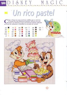 Chip and Dale baking cross stitch