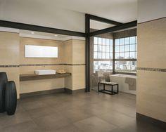MODS an indoor tile , brown , bathroom design.