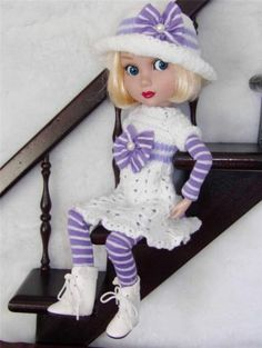 """SWEATER,LEOTARD,HAT&BOOT SET MADE FOR WILDE/TONNER PATIENCE&SIMILAR SIZE 14""""DOLL"""