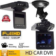 1080P HD 2.5 Car DVR Camera Vehicle Dashboard Cam Recorder IR CCTV Night Vision