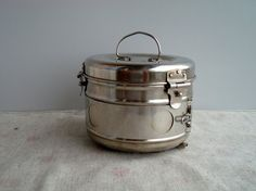 Vintage 1970s medical tin container  stainless от DelicateRetro