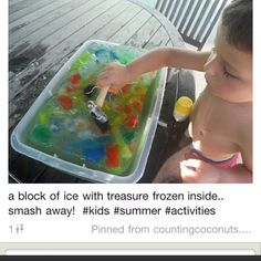 maybe have a note or something to find in the ice for a fun activity to do afterwards