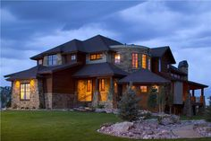 House Plan # 161-1028  This is a colored photo of these great house plans.