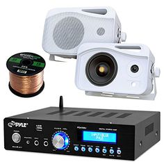 200 watt Bluetooth Stereo Amplifier Bundle Including A 50ft Speaker Wire Youll enjoy your Audio / Video Sound Like never before Using the latest sound amplification technology this receiver is desig...